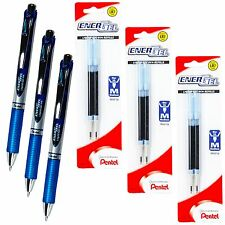 Pentel EnerGel 0.7 RTX Liquid Gel Ink Pens With Refills, Blue Ink, BL77-C