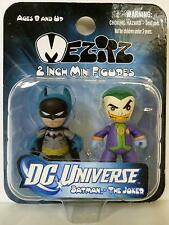 "BATMAN & THE JOKER DC Universe Mezitz 2"" inch Mini Figures Mezco 2011"