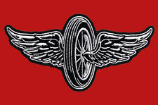 FLYING WHEEL EMROIDERED JACKET VEST 5 INCH MC BIKER PATCH