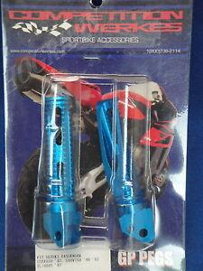 CW SUZUKI 1996 1997 GSXR 600 750 TL 1000S PASSENGER BLUE FOOT PEG PEGS 2GPS1-B
