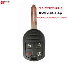 Remote Key Fob 4 Button 315MHz 4D63 for Ford 11-16 F 150 250 350 450 CWTWB1U793