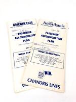 RHMS Amerikanis Chandris Line Cruise Ship Deck Plan Passenger Accommodation 1968