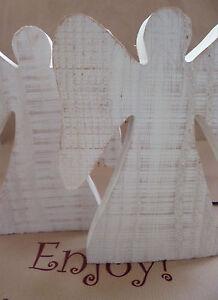 SALE Fair Trade White Wooden Angel Pine Fair Trade Christmas Gift Home CLEARANCE