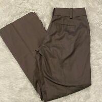 """Ann Taylor Womens Size 0P Brown Dress Pants 29"""" Inseam EUC"""