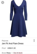Reiss Royal Blue Jen Fit And Flare Dress XS