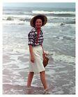 Lady Bird Johnson Wading In The Surf Texas Gulf 8x10 Silver Halide Photo