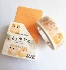 Little hamster 15mmX7M Washi Tape scrapbooking Adhesives Decorative Masking Tape