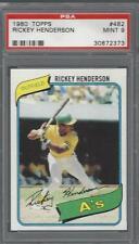 1980 Topps Rickey Henderson Athletics PSA 9 RC HOF