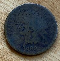 FREE SHIP! 1882 Indian Head Cent -130+ Year Old Penny - Old US Type Coin LT1