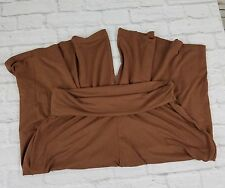 Body By Victoria Pants Medium Brown Gaucho Cropped Palazzo Capri Roll Waist Soft