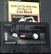 Lou Reed Walk On The Wild Side  Best Of Lou Reed CASSETTE ALBUM Garage Rock Art
