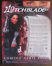 Witchblade Trading Cards Sell Sheet (no cards) 2002 Inkworks