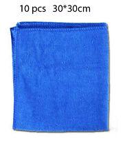 Free shipping 10pcs 30*30cm Blue Wash Cloth Car Cleaning Cloth Kitchen Cloth