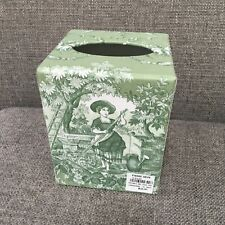 Pierre Deux Green Toile Tissue Box Cover French Country