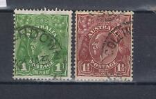Australia 1931 King George V 1d and 1½d CofA Wmk Used Camperdown, Collingwood