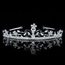 Bridal Flower Swirl Rhinestone Crystal Prom Wedding Crown Tiara 7480