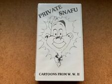VINTAGE PRIVATE SNAFU CARTOONS FROM W.W.II. VHS TAPE CLAM SHELL NEW & SEALED