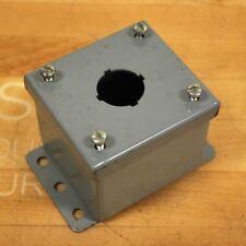 "Unknown Manufacturer Single Button Enclosure 3-1/2"" x 3-1/8"" x 2-7/8"" - NEW"