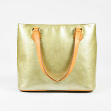 "Louis Vuitton Gold Blue Vernis Leather Tan Handle ""Houston"" Tote Bag"