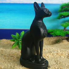 Egyptian Goddess Black Cat Bastet Figurine Resin Statue Home Decor Collection