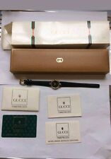 FANTASTIC AUTHENTIC GOLD GUCCI 4500L WATCH WITH PAPERWORK AND ORIGINAL BOX