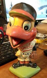 Vintage 1960s Baltimore Orioles Mascot Bobble Head Green Base Lego Japan
