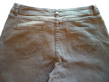 Christopher & Banks womens 14 large stretch brown denim jeans pants straigth leg