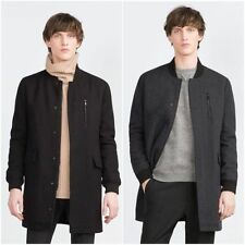 Zara Zip Collared Long Coats & Jackets for Men