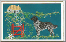 Munsterlander Birthday Card Embroidered by Dogmania