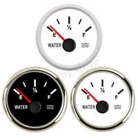 Marine Water Level Gauge Boat Water Tank Level Indicator 52mm 0-190ohms