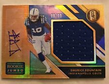2018 GOLD STANDARD DAURICE FOUNTAIN ROOKIE JUMBO JERSEY AUTO #rd/99 COLTS RC