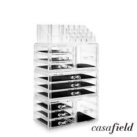 Acrylic Cosmetic Makeup Organizer jewelry Drawer Storage Box Display Case Clear
