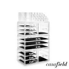 Acrylic Cosmetic Makeup Organizer jewelry Drawer Storage Box Display Case Clear