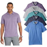 Van Heusen Men's Tall Flex Jacquard Stripe Polo Shirt