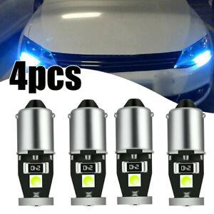 4x Ice Blue LED BA9S T11 3030 Car License Plate Light Map Light Side Lamp CANBUS
