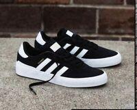Adidas Skateboarding Busenitz Vulc Mens Black White Brown Shoe Trainer