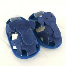 Baby Boys Fisherman Sandals Elephant Faux Leather Soft Sole Blue Size 3