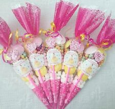 10x Princess  Belle Themed Pre Filled Party Cones Personalised +free Sweety Bag