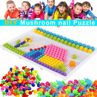 296 Pegs Creative Puzzle Peg Board Educational Learning DIY Children Toys Gifts