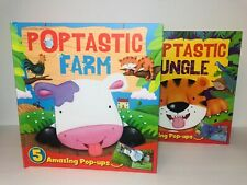 Poptastic Farm and Jungle Pop Book Lot BRAND NEW