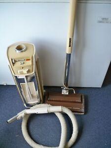 Vintage Electrolux Golden Super J Jubilee Canister Vacuum~Power Nozzle~Hose