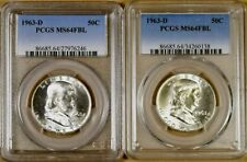1963-D PCGS MS64 FBL Franklin Half Dollar - 95% White