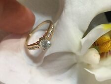 diamond  14k yellow gold engagement ring .82cts  clarity SI  GH color