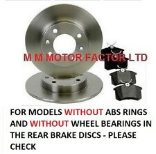 for Peugeot 307 SW Estate |01-07| 1.4, 1.6, 2.0 16v HDi Rear Brake Discs & Pads