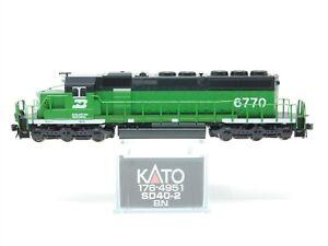 N Scale KATO 176-4951 BN Burlington Northern SD40-2 Diesel #6770 Does Not Run
