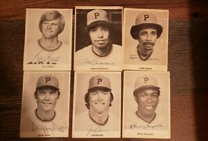 Lot of 6 SIGNED 3 x 4 Black and White Autographed Photos Pittsburgh Pirates