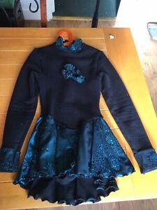 Mondor Polarfleece Ice Figure Skating Dress Costume Girls Age 10-11 Vgc Lovely