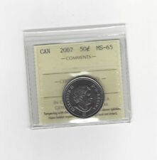 **2007** ICCS Graded, Canadian, 50 Cent, **MS-65**