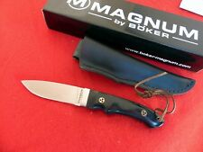 "Boker Magnum Trail  3.25"" 440A stainless Satin Blade, Black Micarta knife 02SC09"