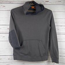 HUGO BOSS Orange Whizz Jersey Hoodie, Gray Hooded Sweatshirt, Men's XXL